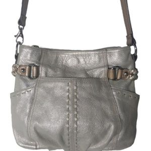 Tignanello metallic leather crossbody bag